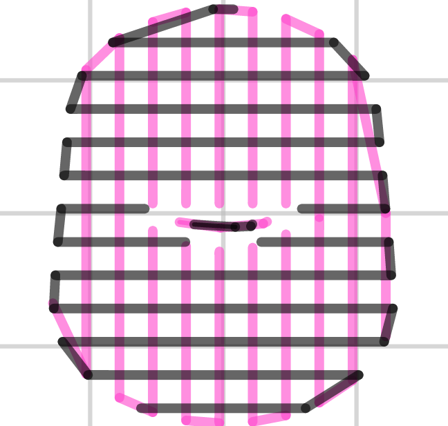 Support infill pattern: Rectilinear Grid
