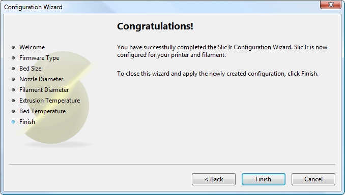 Configuration Wizard: End