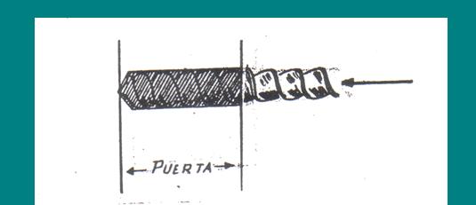 COLOCACION CERRADURAS EN PUERTA DE MADERA: agujerear