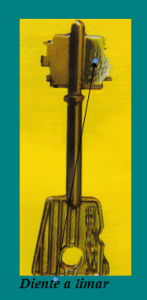 CERRADURAS DOBLE PALETA APERTURAS: diente a limar