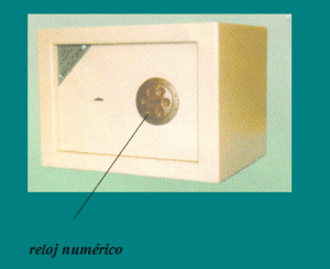 CAJAS FUERTES DE ALTA SEGURIDAD: reloj numérico