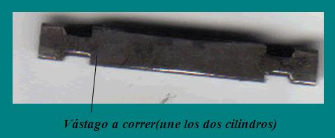 CERRADURAS TUBULARES METODOS APERTURAS: vastago