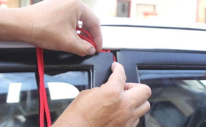 Como abrir un carro sin llave. con cordones