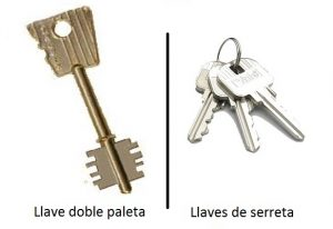 Llave doble paleta y llaves de serreta