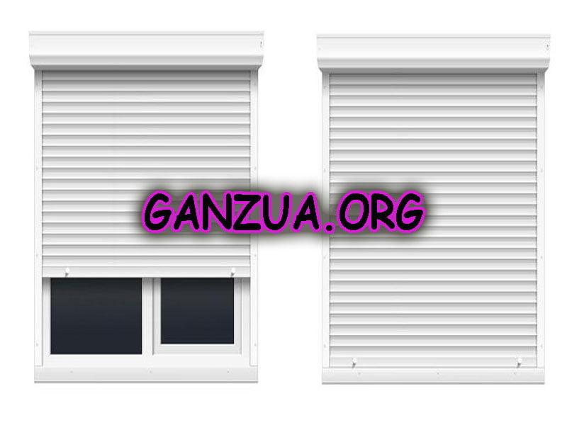 imagen de dos persianas una abierta y otra cerrada manual cerrajero ganzua.org