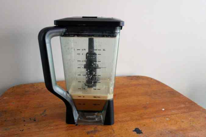 A blender with butter coffee