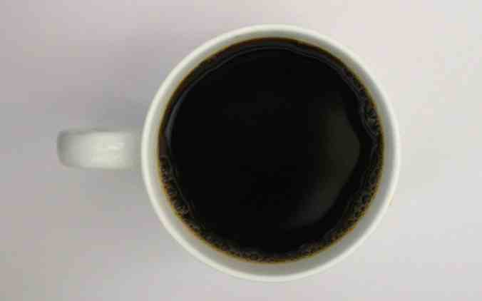 drinking coffee black