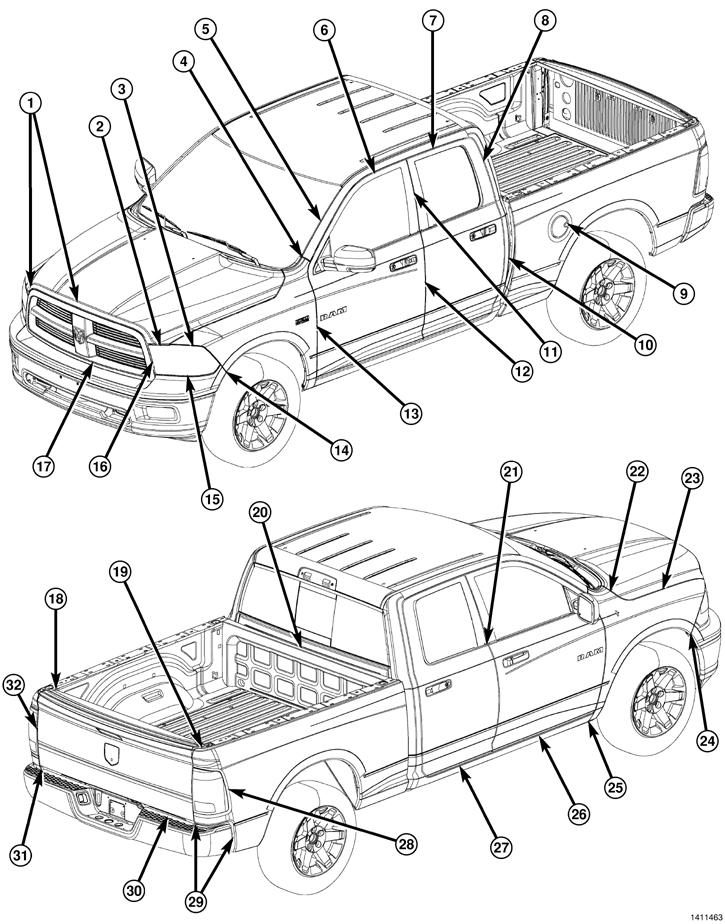 Dodge Ram 1500 Pick up 2009│Manual De Reparacion y