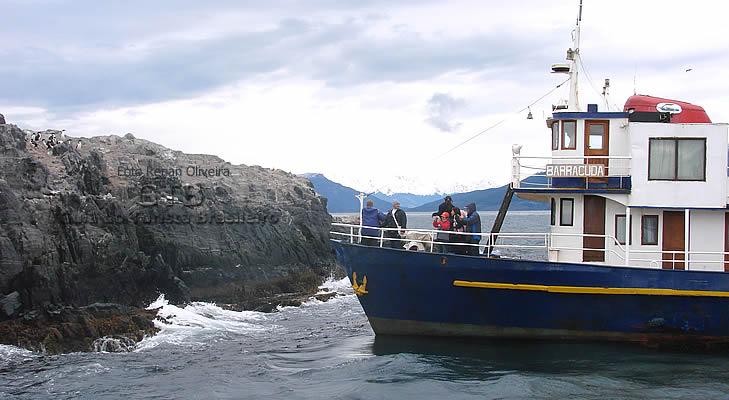 Passeio de barco na Terra do Fogo, Argentina