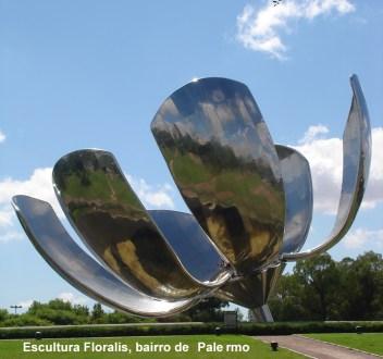 Escultura metálica modernista em Palermo, Buenos Aires