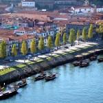 Vila Nova de Gaia, no Douro, em frente à cidade do Porto