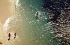 Praia no verão perto de Lagos