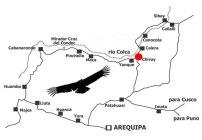 Mapa do Valle del Colca