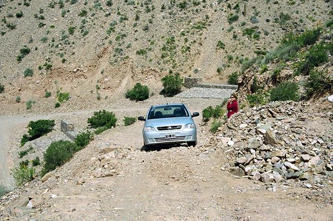 Argentina, Quebrada de Humahuaca, trecho difícil