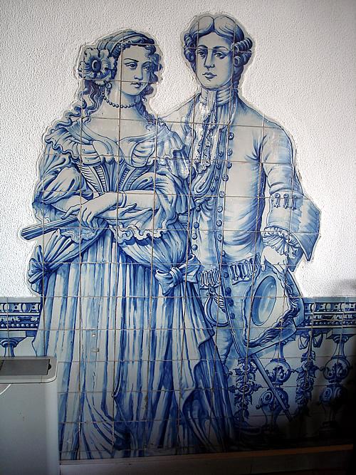 Azulejos no Castelo de São Jorge
