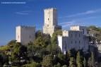 Castelo medieval de Erice, na Sicília, Itália