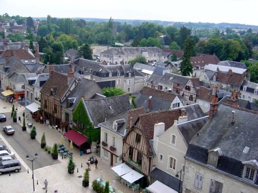 Cidade de Amboise, no Loire