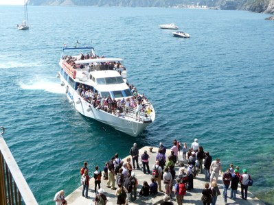 Cinque Terre, acesso fácil por barco