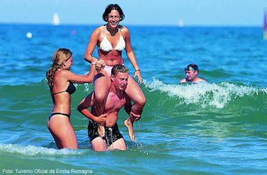 Costa do Adriatico no verão