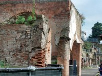 Ruínas de uma casa romana em Herculano