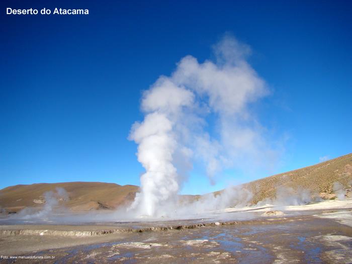 Geiser, no Atacama, no Chile