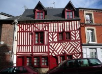 Honfleur, casas - Foto Manual do Turista