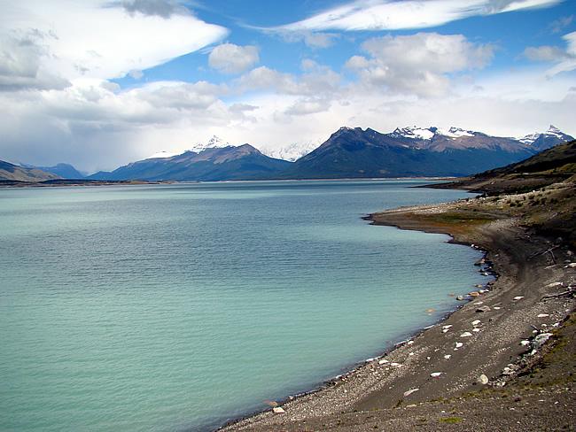 Lago Argentino perto de El Calafate