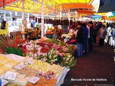 Mercado fluvial de Valdívia, Chile