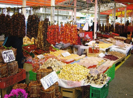 Mercado de Valdívia, Chile
