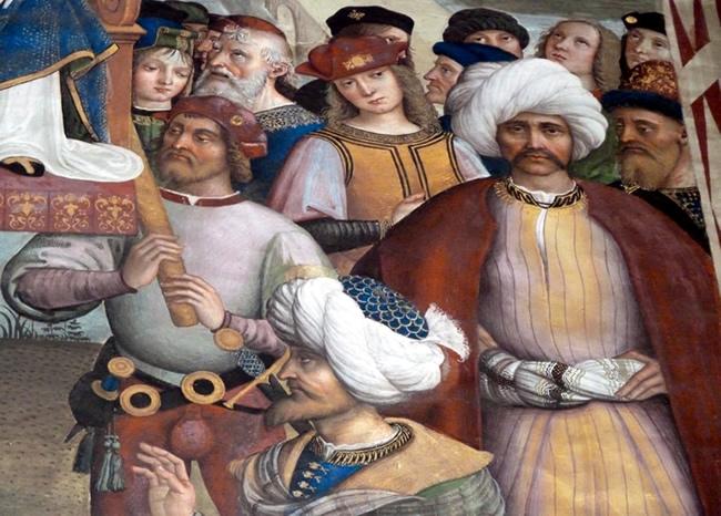 Murais no Duomo de Siena
