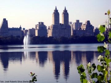 O West Upper Side visto do Central Park, New York, foto Barão