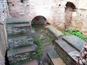 Ruínas romanas em Ostia Antica, Itália