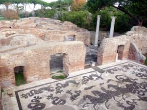 As termas de Ostia Antica por dentro