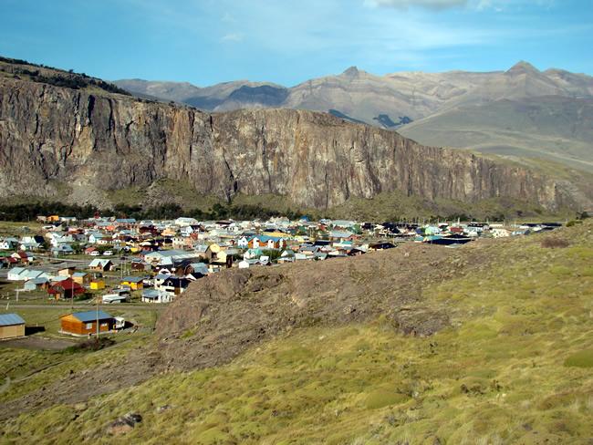 Vista panorâmica de El Chaltén, Argentina