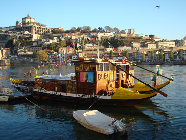 Rio Douro e cidade do Porto em segundo plano