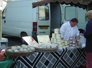 Sarlat, quiosques de queijos