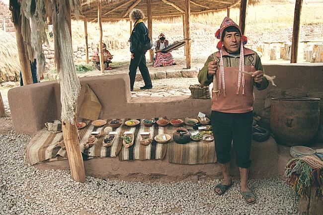 Tecelagem no Vale Sagrado, Peru