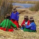 Titicaca, índios na Ilha dos Uros