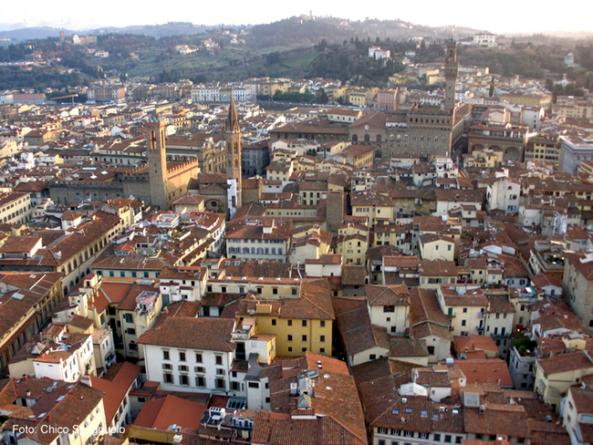 Vista panorâmica de Florença, capital da Toscana