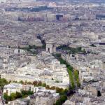 Vista panorâmica de Paris, do alto da Tour Eiffel