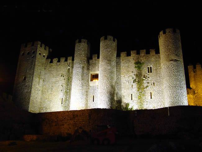 Castelo medieval em Óbidos, Portugal
