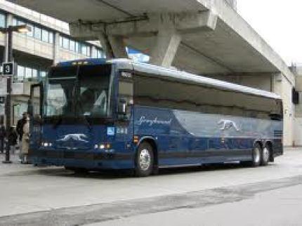 Ônibus da Greyhound, no Canadá