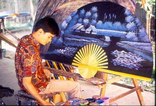 Artesão em Chiang Mai, Tailândia