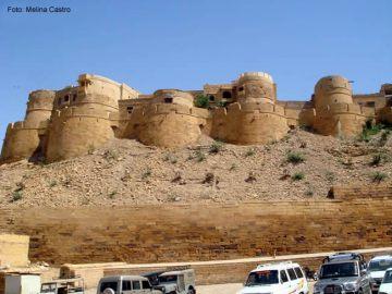 Muralhas de Jaisalmer, no Rajastão, Índia