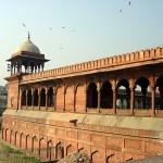 As muralhas do Red Fort, Delhi