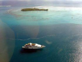 Bora Bora, Tahiti, vista do céu