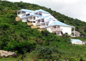 Casas no lado francês de Saint-Martin