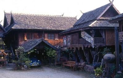 Casas típicas na Tailândia