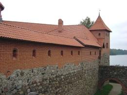 Castelo na cidade de Trakai