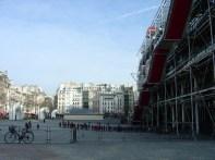 Centre Pompidou, no bairro de Les Halles, Paris